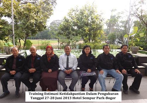 Training Estimasi Ketidakpastian Dalam Pengukuran Tgl 27-28 Juni 2013