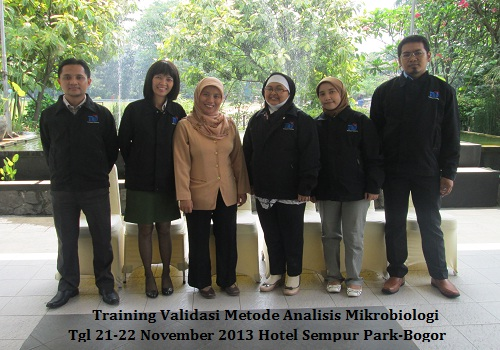 Training Validasi Analisa Mikrobiologi November 2013