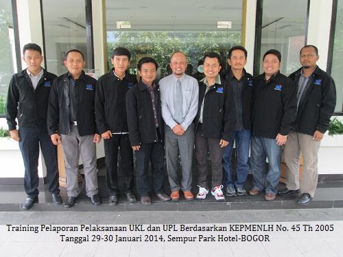 Training Pelaporan Pelaksanaan  UKL-UPL dan AMDAL (25-27 Oktober 2017 Bogor)