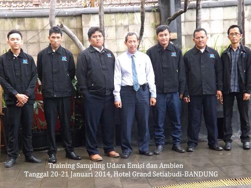 Training Teknik Sampling Udara Serta Analisis Udara Emisi dan Ambien (26-28 November 2018 Lombok)