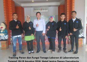 Training Peran dan Fungsi Tenaga Laboran di Laboratorium (19-20 Juli 2018 Bali)