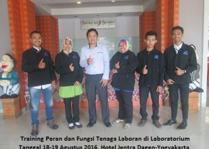 Training Peran dan Fungsi Tenaga Laboran di Laboratorium (1-2 Oktober 2018 Yogyakarta)