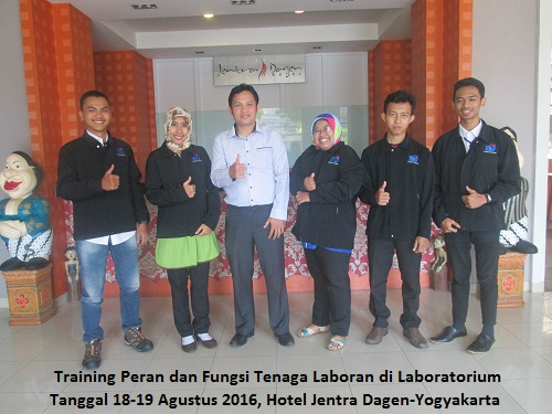 Training Peran dan Fungsi Tenaga Laboran di Laboratorium (11-12 Oktober 2018 Bandung)