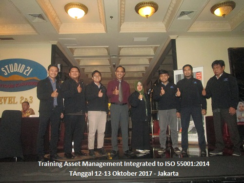 Training Asset Management Integrated to ISO 55001:2014 (100% Runing Tgl. 25-26 Oktober 2018 Bandung)