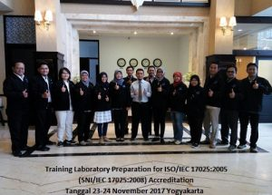 Training ISO 17025 – Laboratory Preparation for SNI ISO/IEC 17025:2017 Accreditation (100% Running: 30-31 Agustus 2018 Yogyakarta)