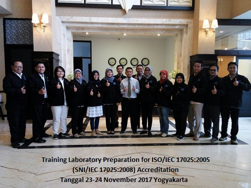 Training ISO 17025 – Laboratory Preparation for SNI ISO/IEC 17025:2017 Accreditation (27-28 Agustus 2018 Jakarta)