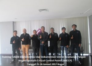 Training HACCP – Teknik Implementasi dan Dokumentasi Sistem Keamanan Pangan Hazard Analysis Critical Control Points (28-29 Maret 2019 Surabaya)