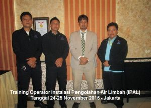 Training Operator IPAL (Operator Instalasi Pengolahan Air Limbah) (18-19 Juli 2019 Jakarta)