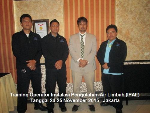 Training Operator IPAL (Operator Instalasi Pengolahan Air Limbah) (100% Running 03-04 Februari 2020 Bandung)