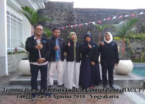 Training HACCP – Teknik Implementasi dan Dokumentasi Sistem Keamanan Pangan Hazard Analysis Critical Control Points (100% Running: 27-28 September 2018 Yogyakarta)