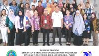 Training K3 Rumah Sakit- Kesehatan dan Keselamatan Kerja Rumah Sakit (Implementasi dan Persyaratan Akreditasi SNARS Ed.1/JCI)(25-26 Oktober 2018 Bogor)