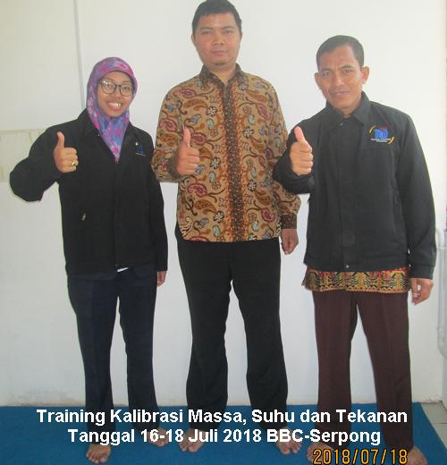 Training Kalibrasi Massa, Suhu, dan Tekanan (Neraca, Termometer dan Presure Gauge) (08-10 April 2019Serpong)
