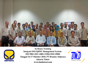 Training Integrasi ISO-QHSE Management System: ISO 9001-ISO 14001-SMK3/ISO 45001 (04-06 September 2019 Jakarta)