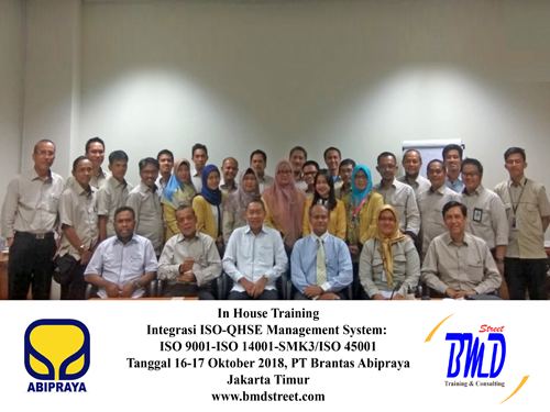 Training Integrasi ISO-QHSE Management System: ISO 9001-ISO 14001-SMK3/ISO 45001 (22-24 April 2019 Surabaya)
