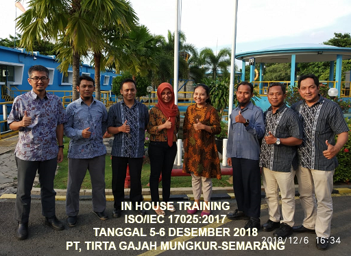 Training ISO 17025 – Laboratory Preparation ISO/IEC 17025:2017 Accreditation (16-17 April 2020 Jakarta)