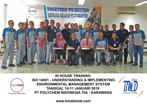 Training ISO 14001-Understanding and Implementing Environmental Management System (11-12 April 2019 Surabaya)