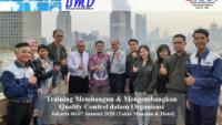 Training Quality Control/Assurance – Membangun dan Mengembangkan Quality Control/Assurance Dalam Organisasi (100% Running 13-14 April 2020 Serpong)