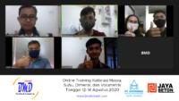 Online Training Kalibrasi MSDV (12-14 Agustus 2020)
